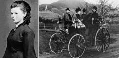 Берта Бенц на первом автомобиле